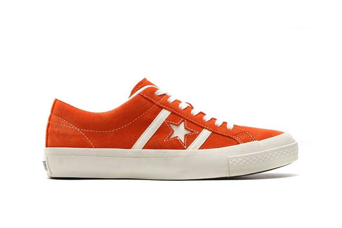 Converse Star And Bars Suede Orange 2