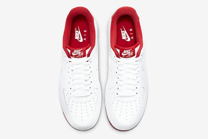 Nike Air Force 1 Low White University Red Cd0884 101 Top