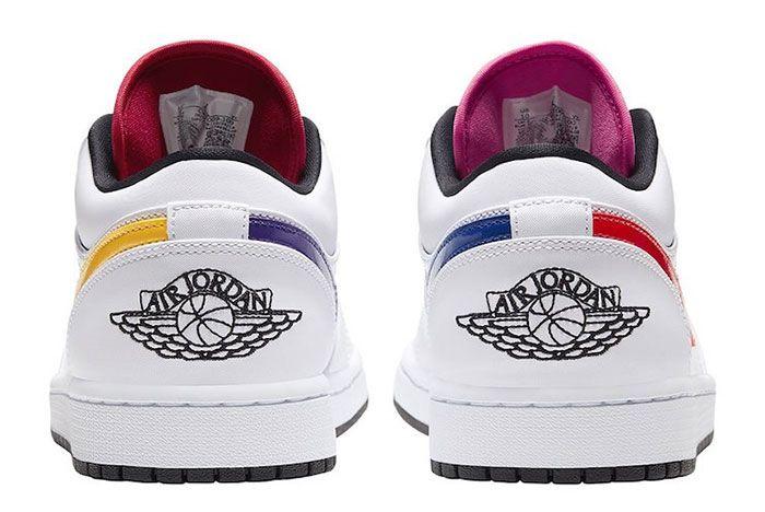 Air Jordan 1 Low White Multi Color Cw7009 100 Release Date 5