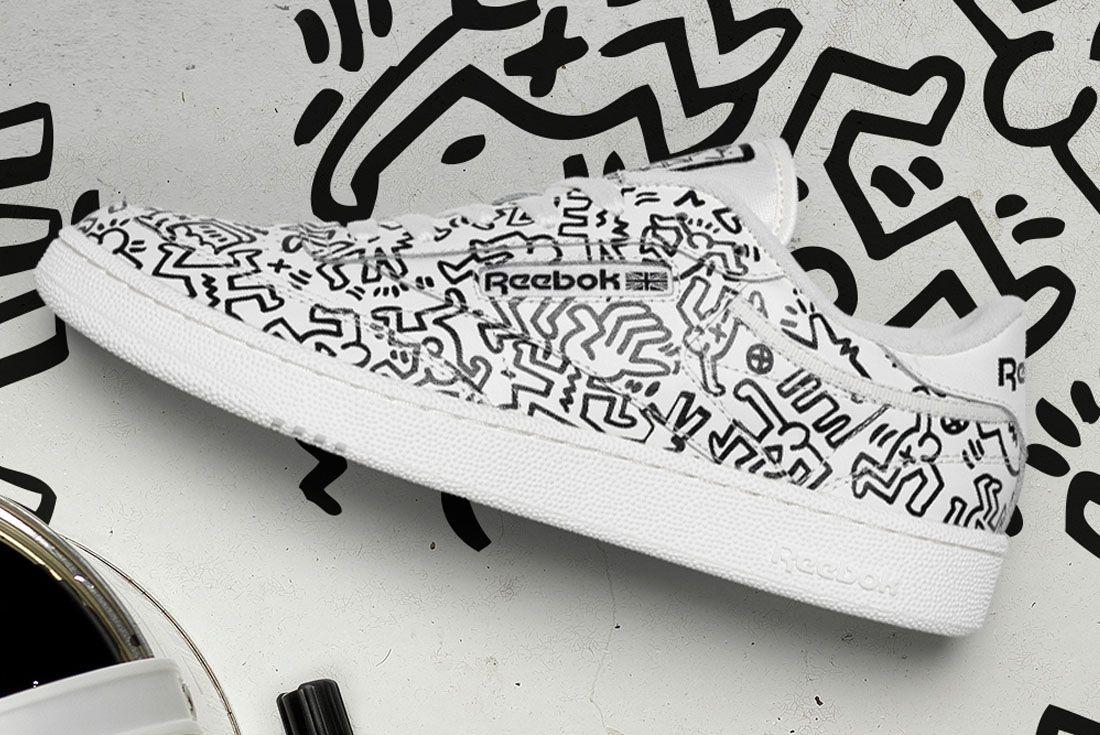 Keith Haring x Reebok Club C