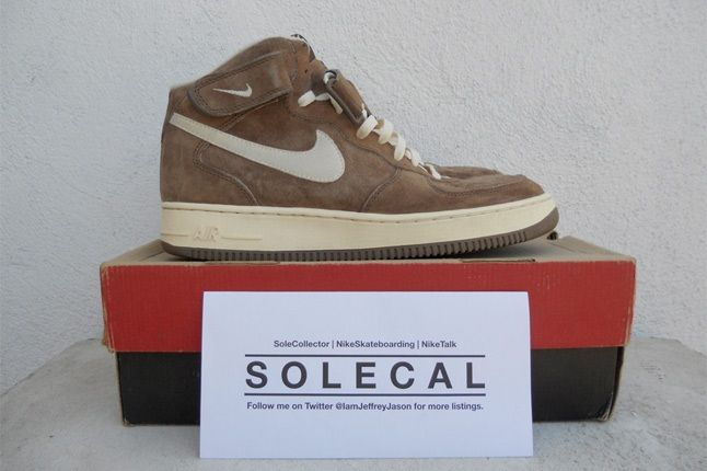 Nike Air Force One High Brown 1