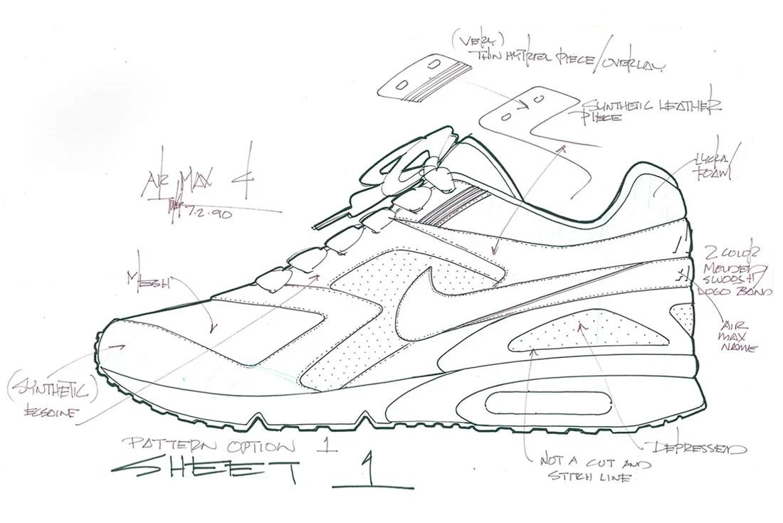 Tinker Hatfield Nike Air Max BW Sketch