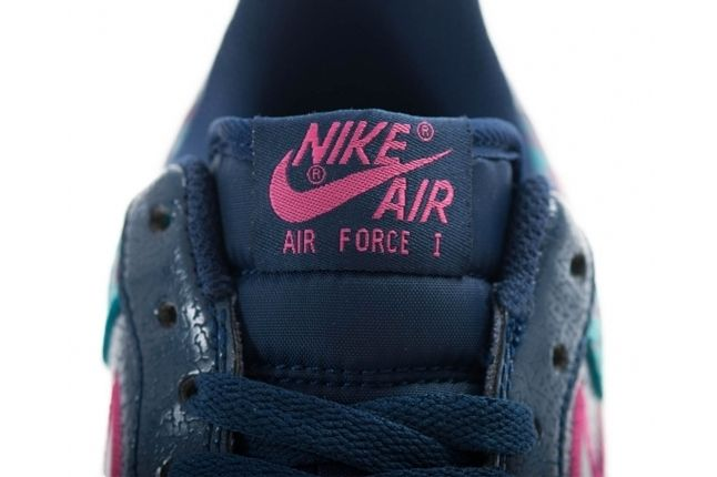 Nike Air Force 1 Low Midnight Navy Fusion Pink Elephant Tongue 1