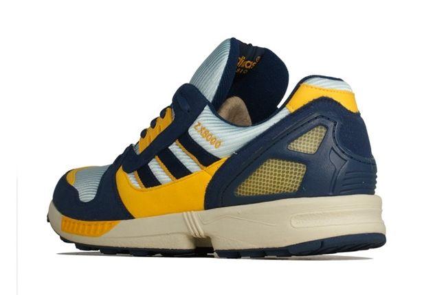 Adidas Zx 8000 Yellow Navy Heel Profile 1