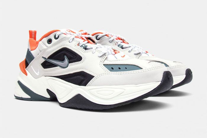 Nike M2 K Tekno Light Bone And Burnt Orange Front Angle Shot 1