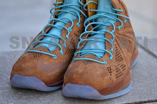 Nike Lebron X Hazelnut Brown Suede Toe Detail 1