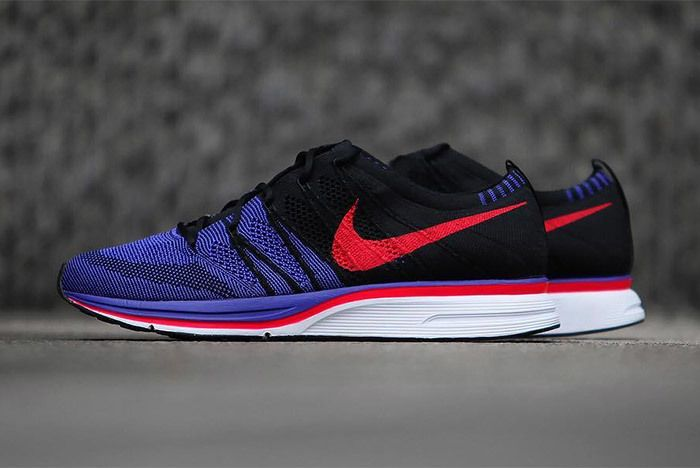 Nike Flyknit Trainer Red Purple Black 3