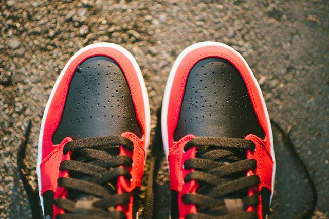 Air Jordan 1 Low Blackgym Redgreen Pulse
