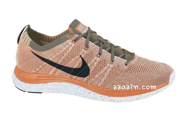 Nike Wmns Flyknit Lunar1 Orange Grey 1