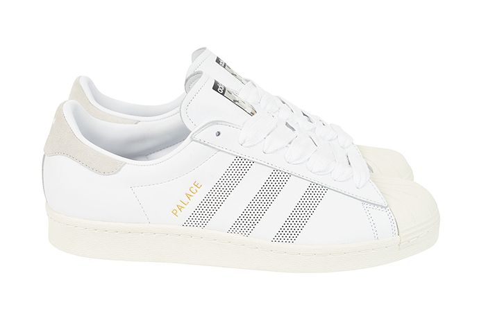Palace Adidas Superstar 2019 White Release Date Pair