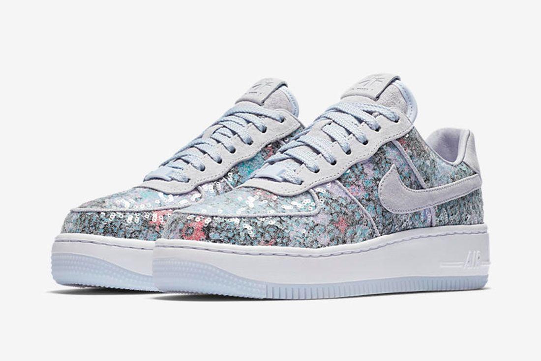 Nike Air Force 1 Upstep Low Glass Slipper 5