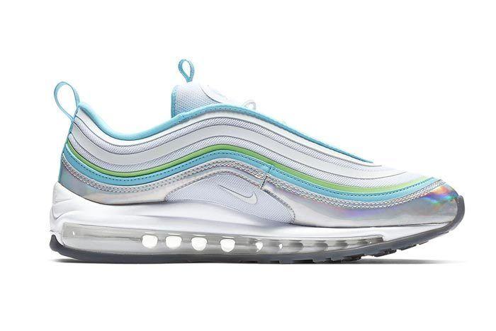 Iridescent Silver Nike Air Max 97 Medial