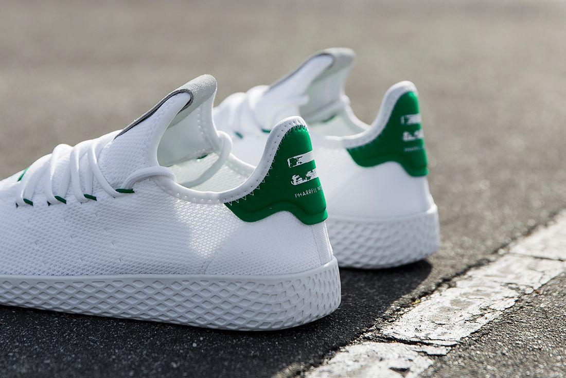 Pharrell Williams X Adidas Tennis Hu White Green4