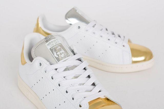 Adidas Stan Smith White Metallic Gold Silver 1