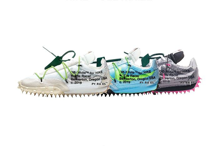 Off White Nike Waffle Racer Electric Green Fuchsia Vivid Sky 2019 Release Date All