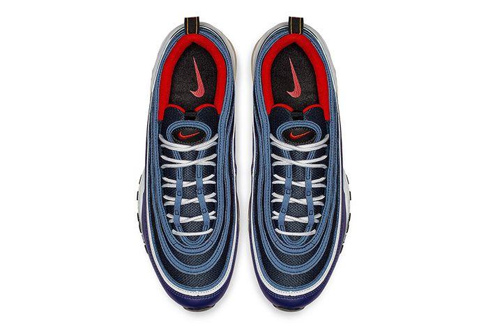 Nike Air Max 97 Midnight Navy Habanero Red 3