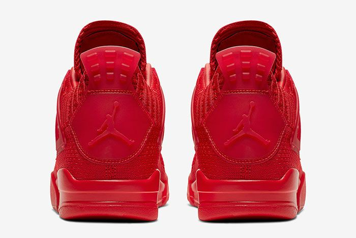 Air Jordan 4 Flyknit Red Aq3559 600 Heel Shot