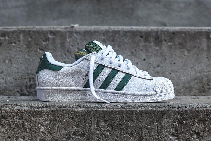Adidas Superstar White Green Mesh 2