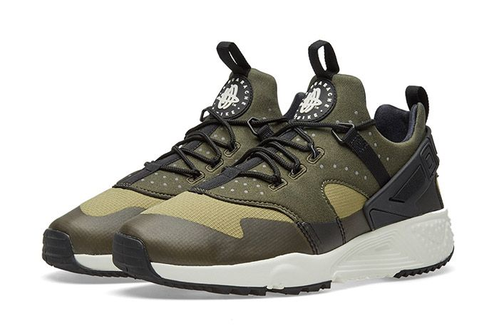 Nike Air Huarache Utility Trooper Sail Olive Green 1