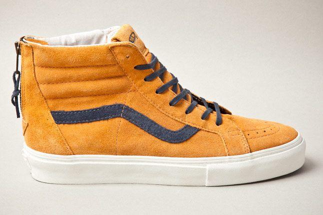 Vans Vault Sk8 Hi Zip Premium Inca Gold Side 1