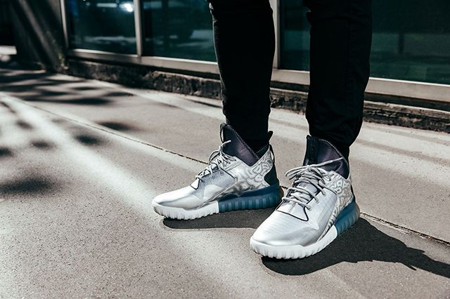 Adidas Tubular X Hype Edition Metallic Silver