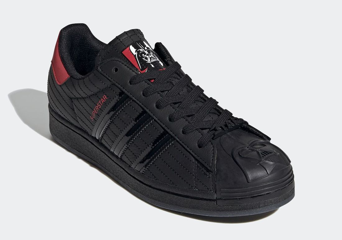 Star Wars adidas Super Star Darth Vader Angled