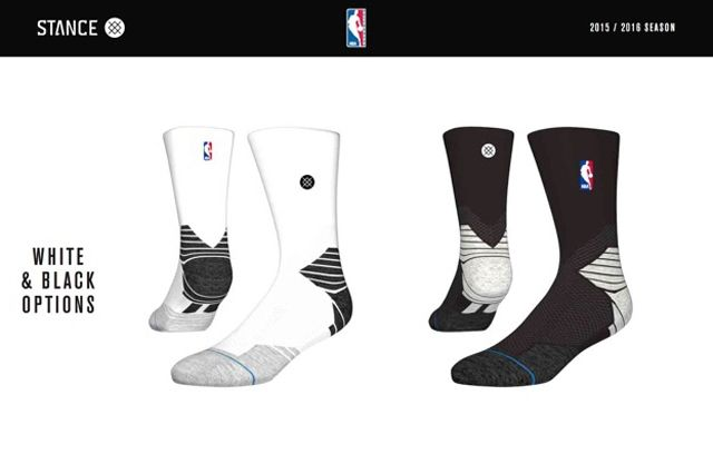 Stance White Black Nba Sock Design