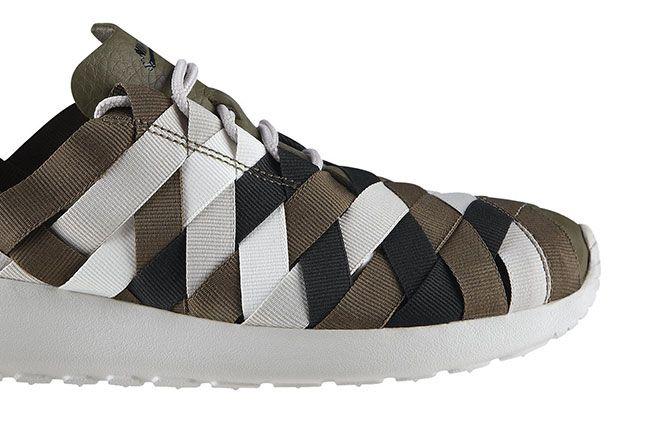 Nike Roshe Run Woven Tarp Green Gamma Grey Heel 1