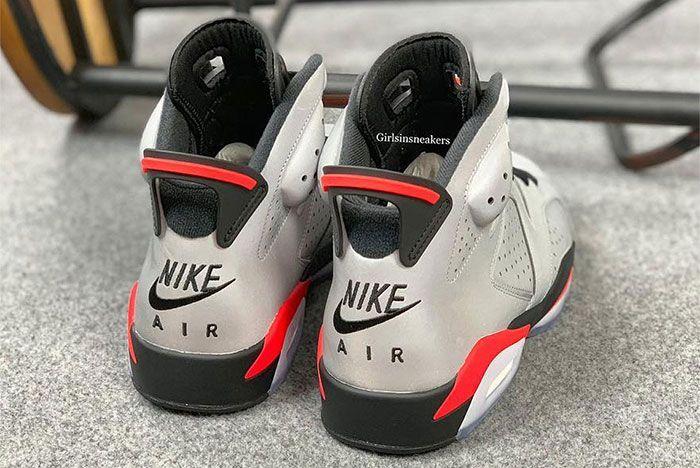 Air Jordan 6 Reflective Infrared Heel