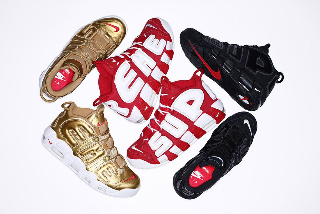 Supreme Nike Air More Uptempo Pack 2
