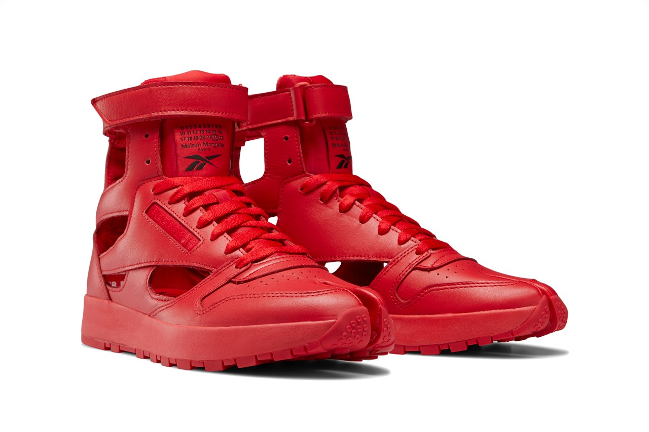 Maison Margiela x Reebok Classic Leather Tabi Red