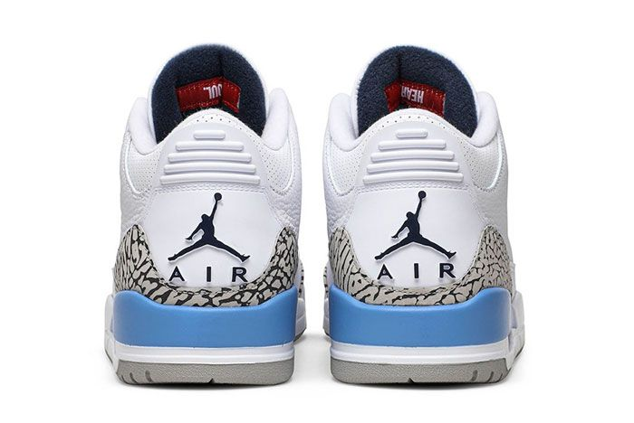 Air Jordan 3 Unc Heel