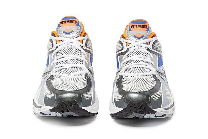 Vetements Reebok Spike Runner 200 White Blue Orange Grey Release Pair Front