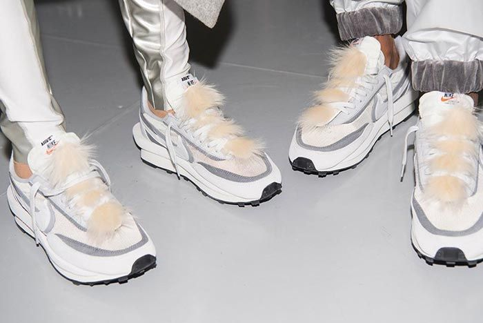 Sacai X Nike Collection Accessories Fur On Foot