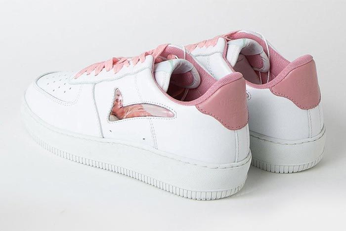 Memory Sneaker Orgasm Heel Angled Shot