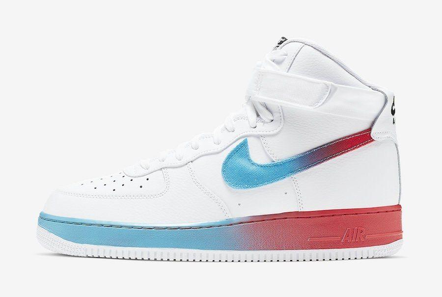 Nike Air Force 1 High White Blue Fury Ember Glow Cj0525 100 Release Date