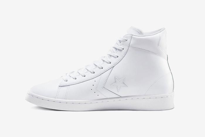 Converse Pro Leather Hi White Medial