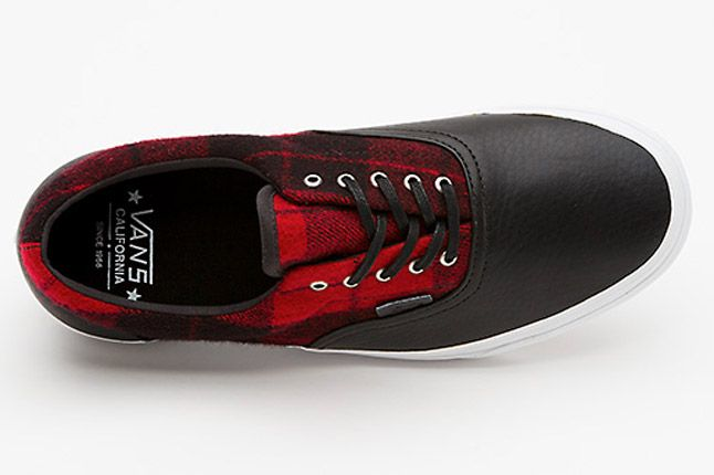 Vans Flannel Era Ca Red Black Top 1
