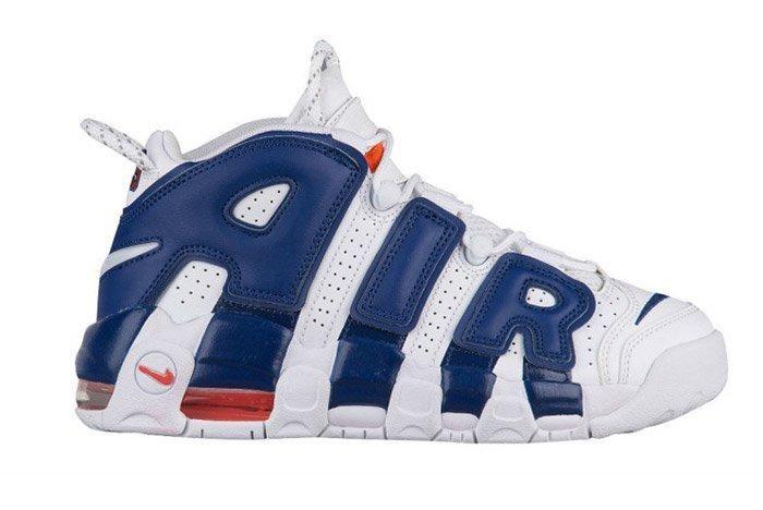 Nike Air More Uptempo White Blue Knicks 3