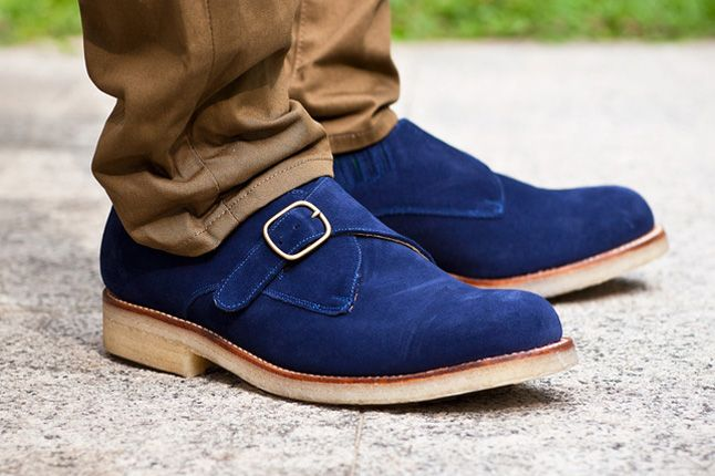 Garbstorexgrenson 2012 Fall Winter Monk Shoe Blue Pair 1