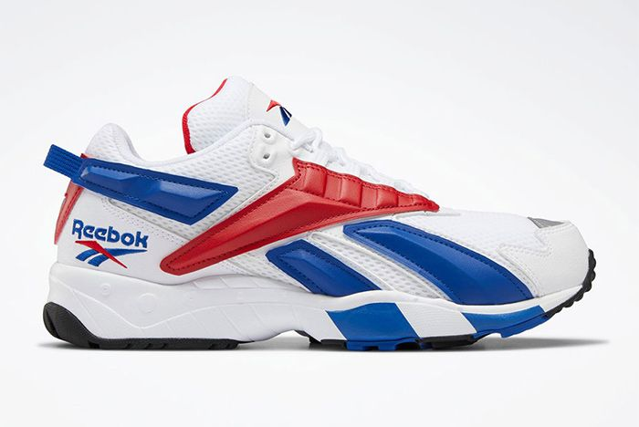 Reebok Interval 96 White Bllue Red Right