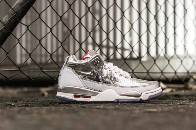 Nike Air Flight Squad Metallic Silver 3