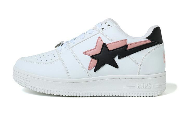 Bape Sta Low Double Star White
