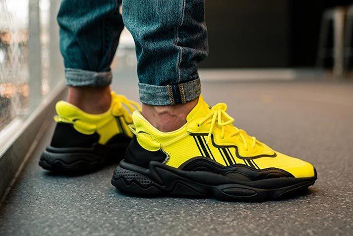 Adidas Ozweego Solar Yellow Eg7449 On Foot Lateral