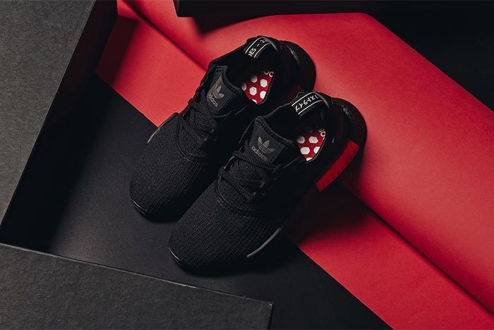 Adidas Nmd R1 Core Black Lust Red 3