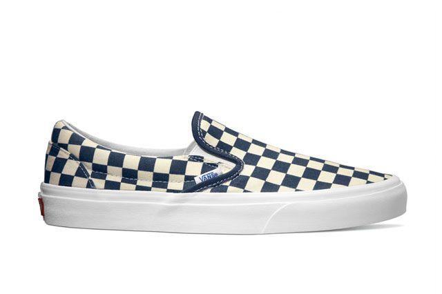 Vans Classics Classic Slip On Golden Coast Dress Blues White Checker 2014