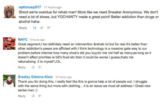 Sneaker Rehab Comments 1