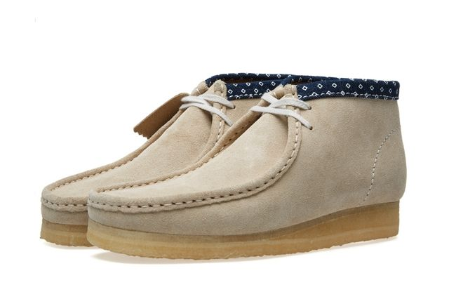 Clarks Wallabee Boot Chalk Combi 3