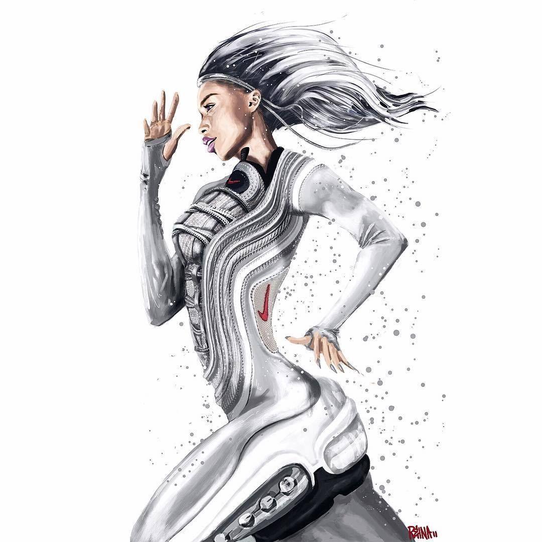 Reina Koyano Nike Air Max 97 Silver Bullet