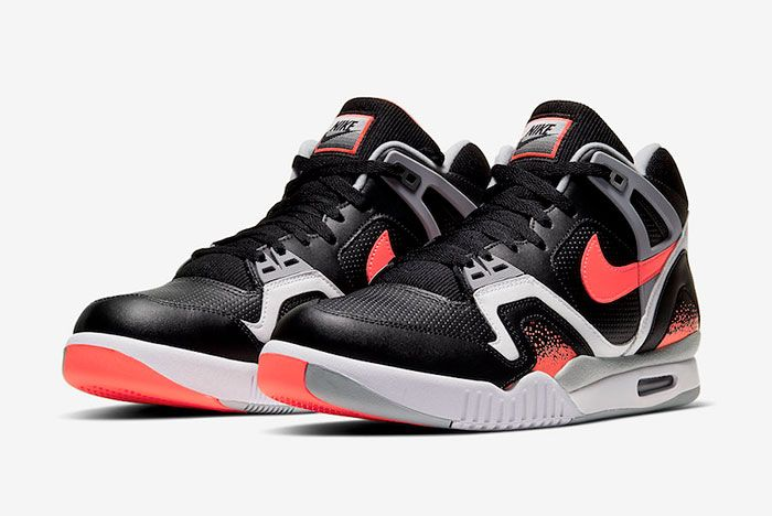 Nike Air Tech Challenge 2 Black Lava Cq0936 001 Front Angle